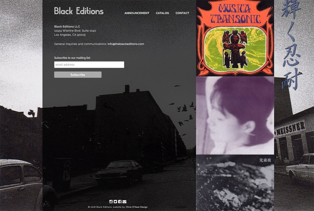 Black Editions website contact page