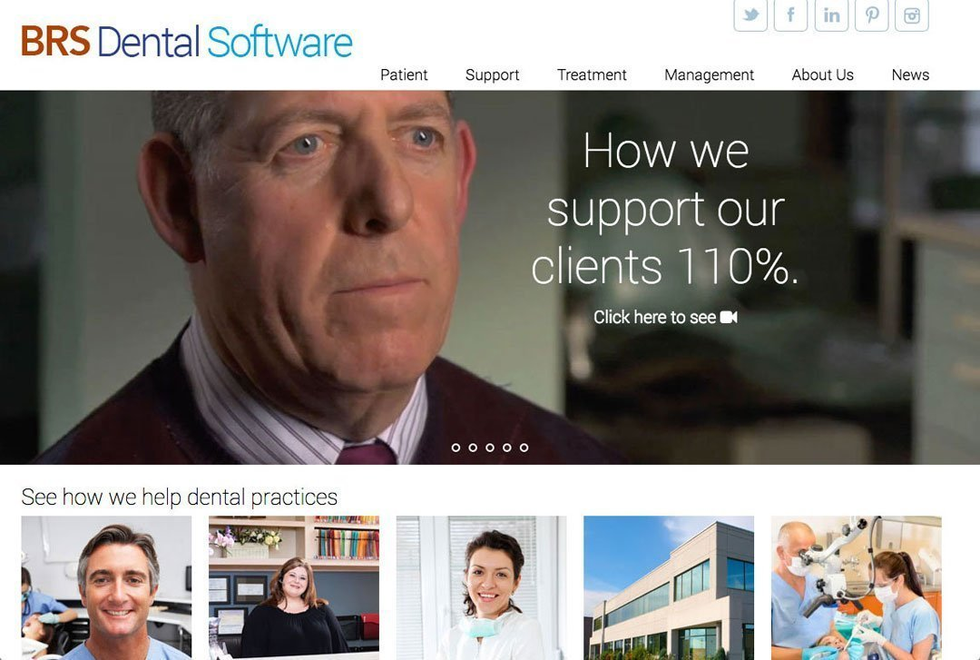 BRS Dental website