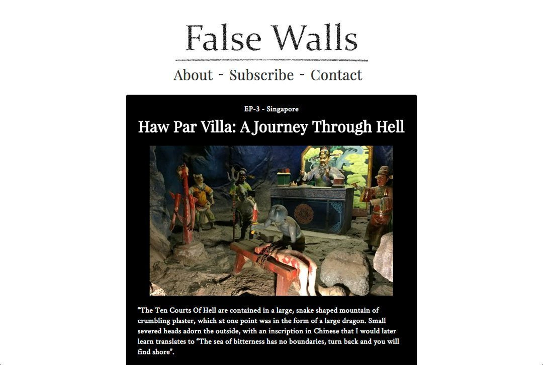 False Walls home page