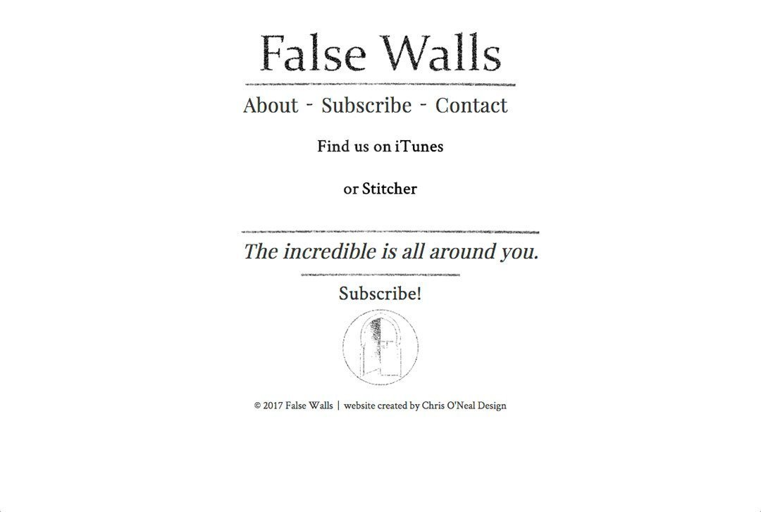 False Walls subscribe page