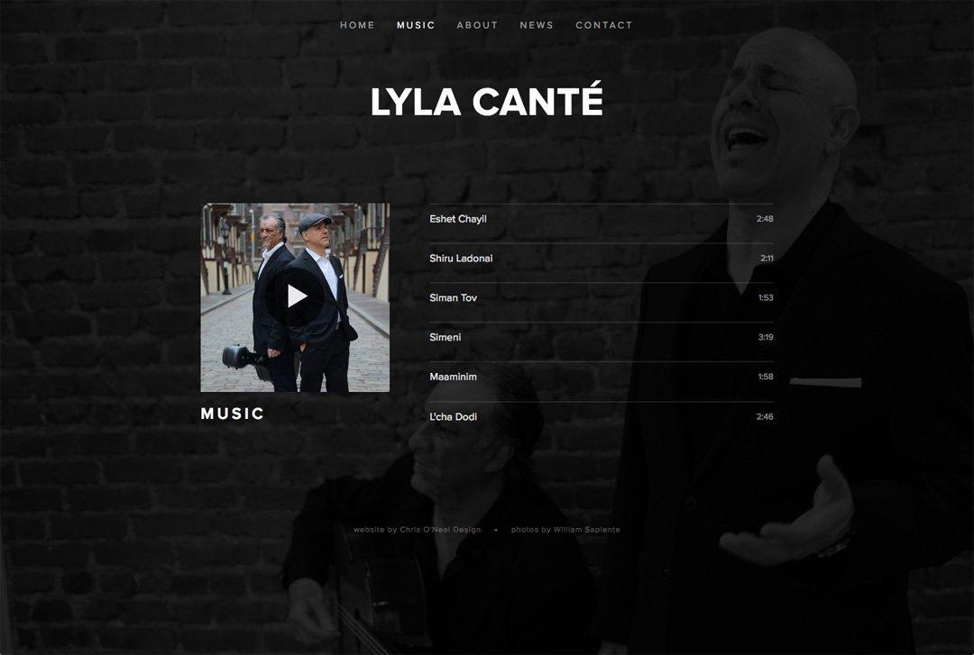 Lyla Canté website music page