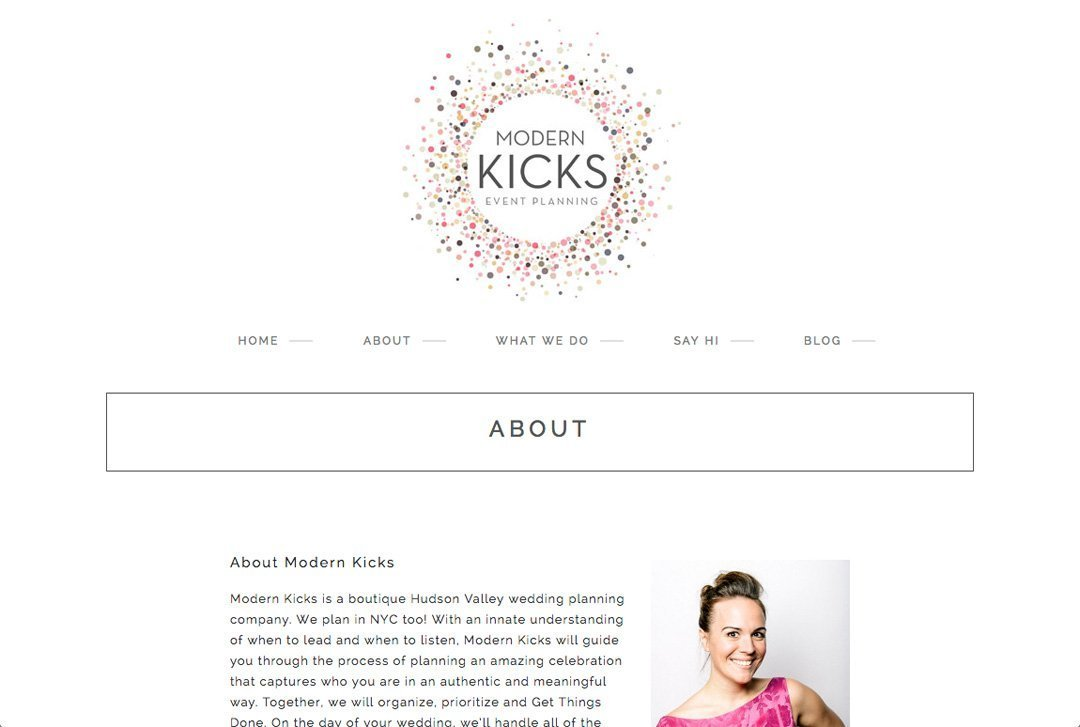 Modern Kicks website about page