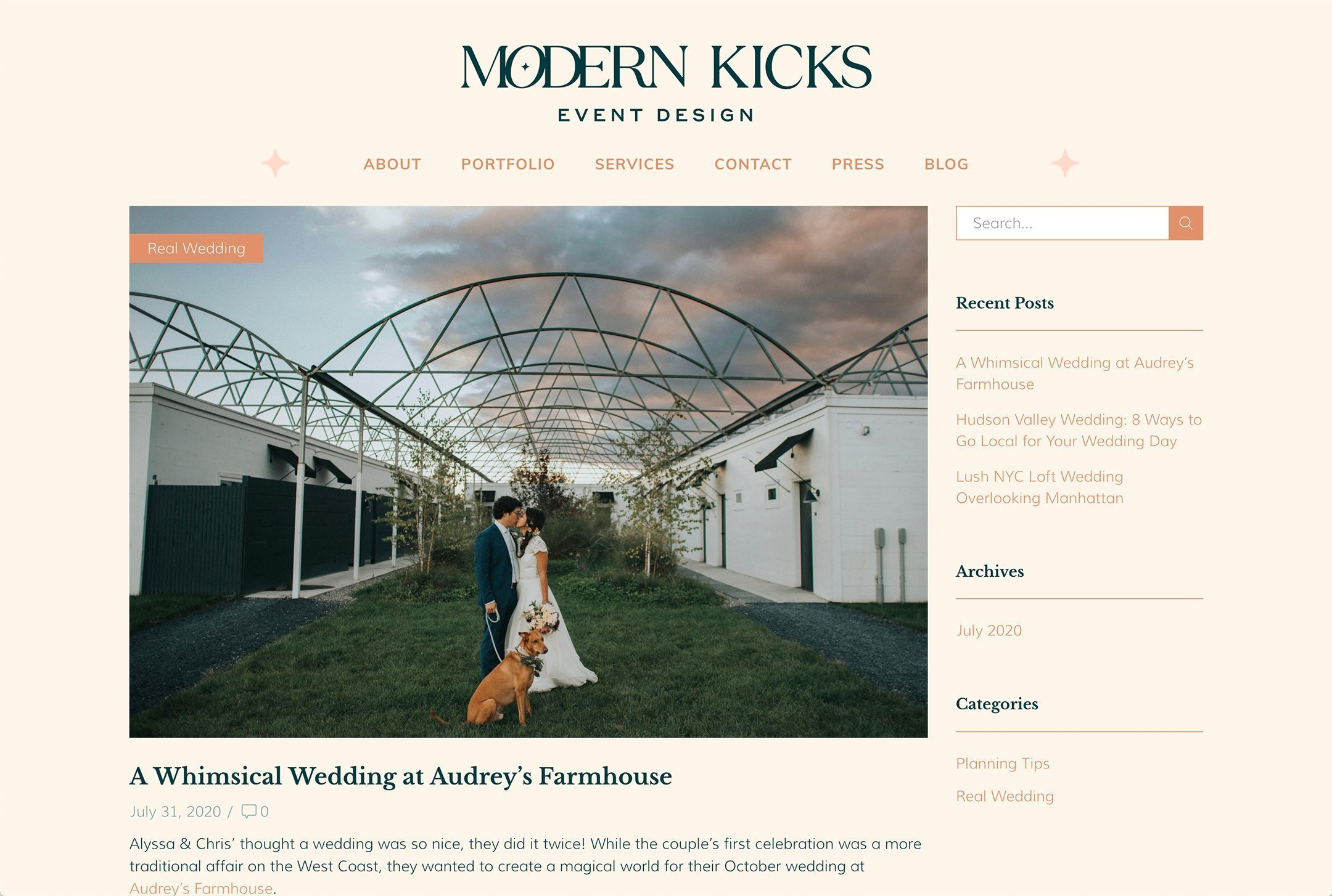 Modern Kicks, Hudson Valley wedding planner, Blog page