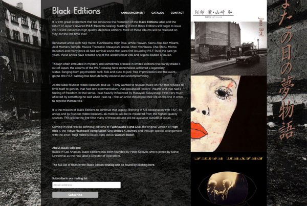 Black Editions website