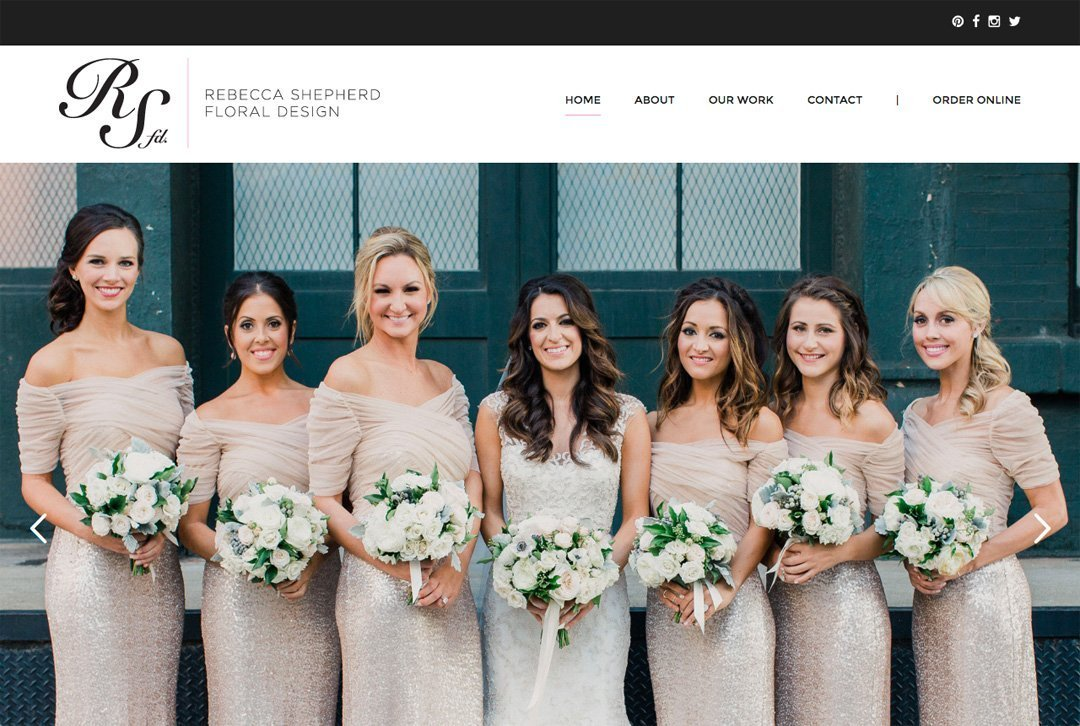 Rebecca Shepherd Floral Design website