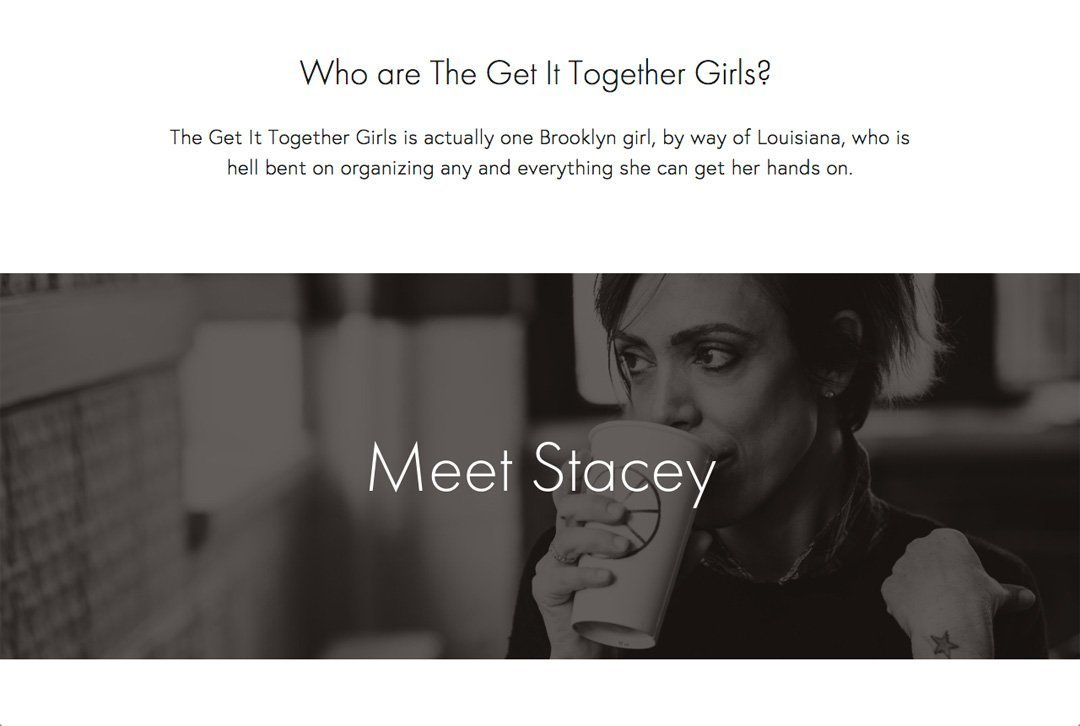 The Get It Together Girls website