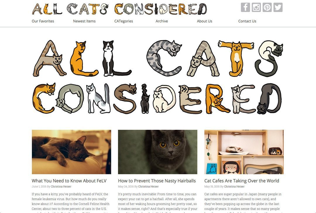 All Cats Considered website