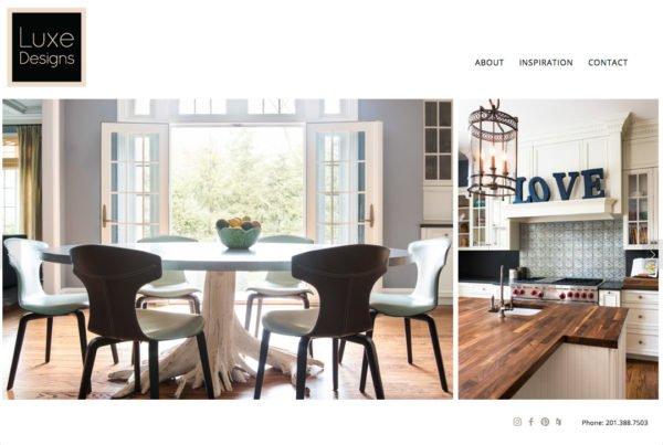 Luxe Designs website