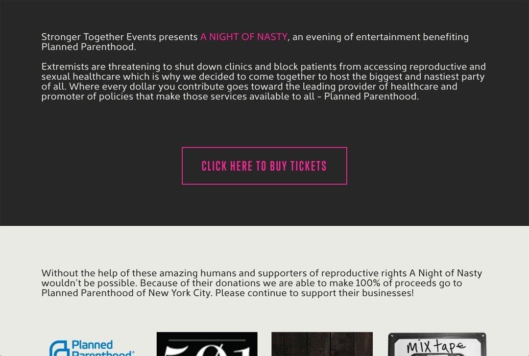 A Night Of Nasty website