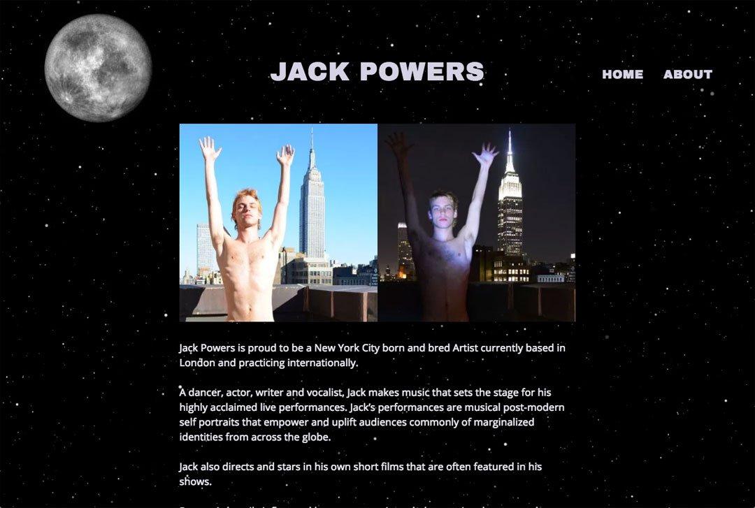 Jack Powers website screenshot