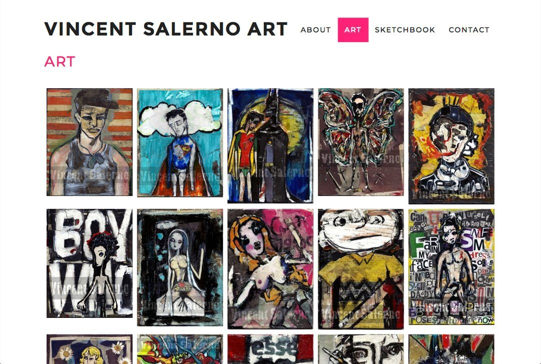 Vincent Salerno Art website by Chris O'Neal Design