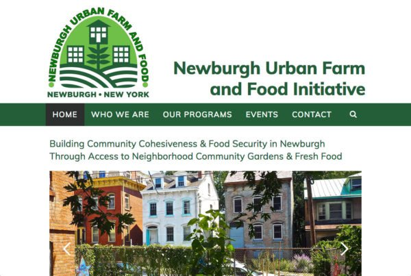 Newburgh Urban Farm and Food Initiative website by Chris O'Neal Design home