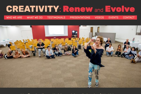 CREATIVITY: Renew and Evolve website home page