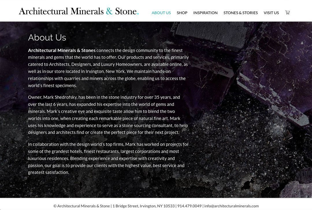 Architectural Minerals & Stone - About