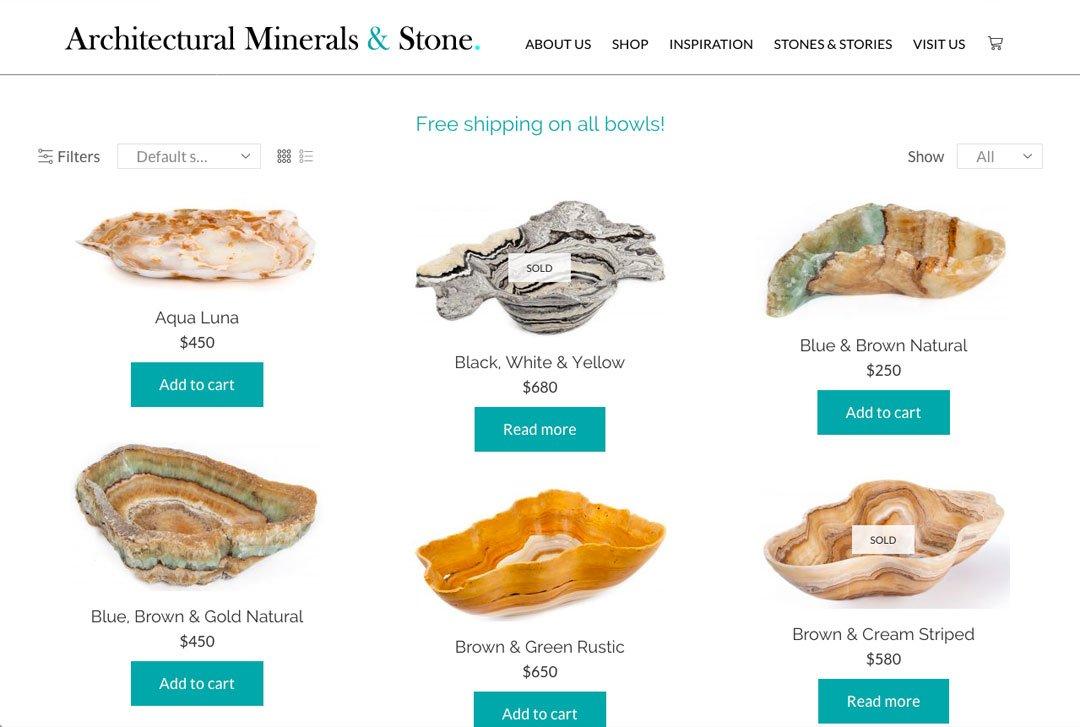 Architectural Minerals & Stone - Shop