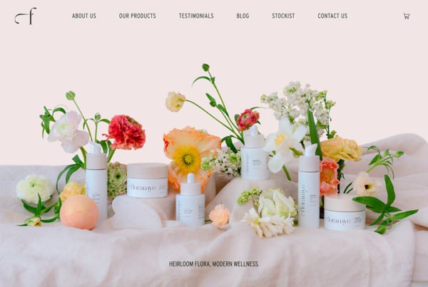 Floramye website Home page